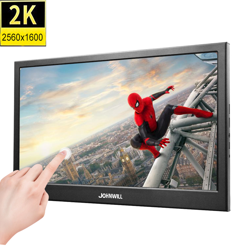 <font><b>10</b></font>.1 inch 2K 2560*1600 IPS <font><b>Touch</b></font> <font><b>Screen</b></font> Portable Gaming <font><b>Monitor</b></font> LED LCD Displays PS3/4 Xbox360 Tablet Display for Windows 7 8 <font><b>10</b></font> image