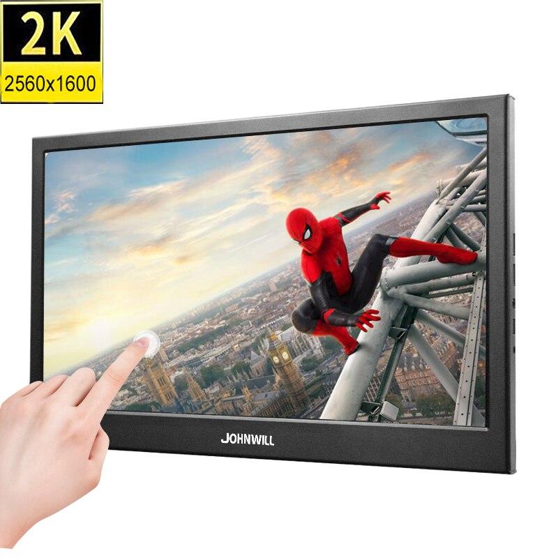10.1 polegada 2 k 2560*1600 ips tela de toque portátil gaming monitor led display lcd ps3/4 xbox360 tablet para windows 7 8 10