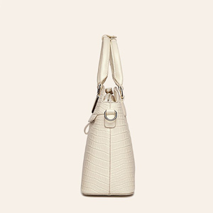 Image 5 - ワニのパターン革ハンドバッグの女性のバッグ新シンプルなための女性高品質の女性のメッセンジャーショルダーバッグ HC258
