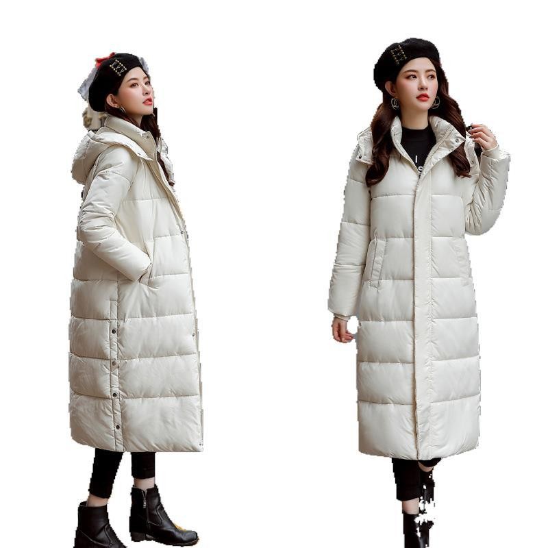 Autumn Winter Sale Women Plus Size Fashion Cotton Down Jacket Hoodie Long Parkas Warm Jackets Female Winter Coat Clothes