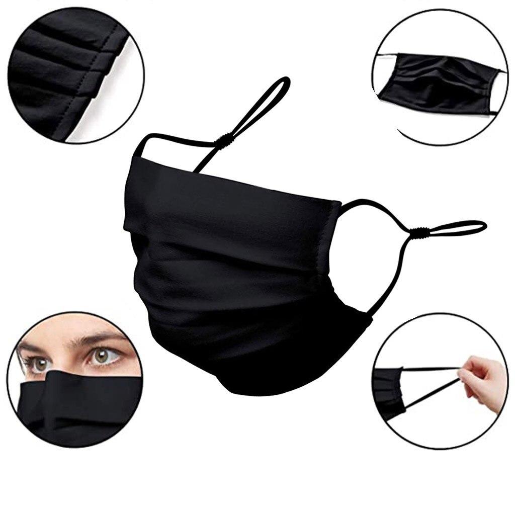 1pc Preto Máscara Facial Adulto Unisex Lavável Reutilizáveis de Pano Máscaras Boca Mascarillas Ciclismo Protective Mondkapjes Boca Caps Маска