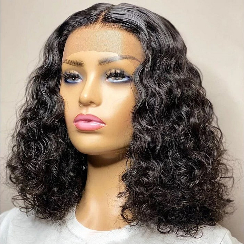 Deep Bob Wig Lace Front Human Hair Wigs With Baby Hair Brazilian Remy Hair Short Pre Plucked Deep Wave Bob Wig For Black Women