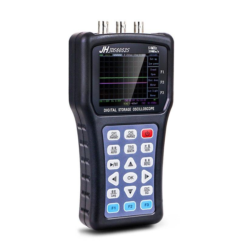 Oscilloscope portatif portatif JDS6052S générateur de fonction de stockage numérique 20MHz Oscilloscope accouplement d'entrée ca/cc Durable