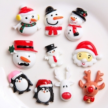 Crafts-Supplies Phone-Decoration Resin-Accessories Christmas-Snowman Planar Flat-Back