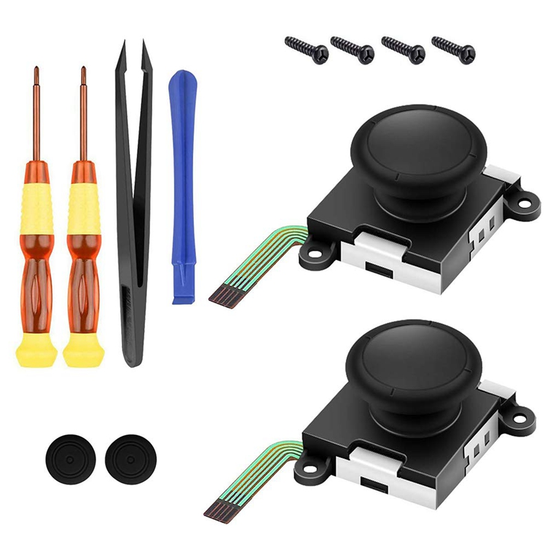 12 In 1 Flexible Disassemble Repair Tool Combination For Nintendo Gamepads Switch Handle Rocker Screws Tweezers Screwdriver