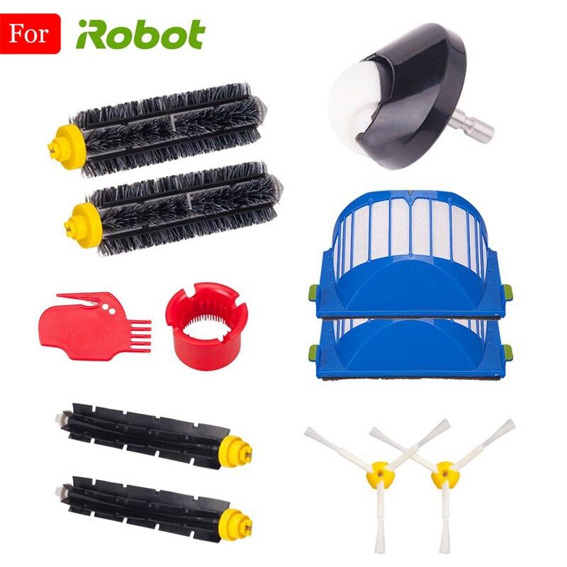 un conjunto de 15 Cepillo Lateral Para iRobot Roomba Series 500 600 700