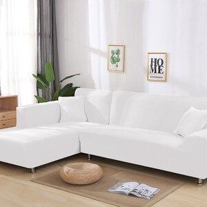 Image 4 - Housse extensible pour canapé, en coton, motif géométrique, pour salon, commander 2 pièces pour un canapé dangle