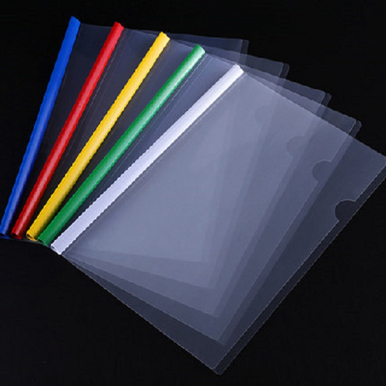 10Pcs Random Colors Waterproof Transparent PVC Bag File Folder Document Filing Bag Stationery Bag School Office Supplies