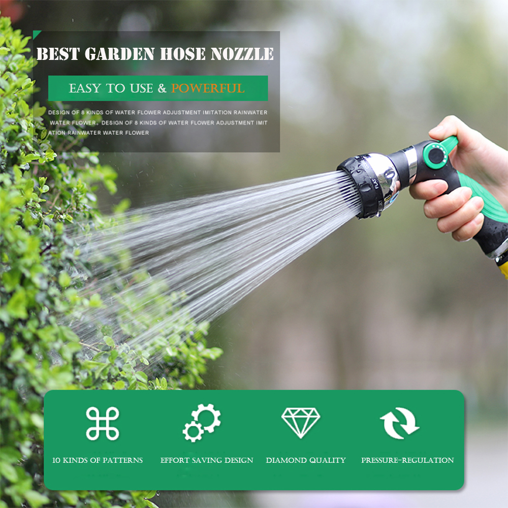Powerful Multifunctional high-pressure car wash garden spray water hose nozzle