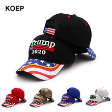 New Donald Trump 2020 Cap USA Flag Cappellini da baseball Mantenere In America Grande Snapback Presidente Cappello 3D Del Ricamo Commercio All'ingrosso di Trasporto di Goccia(China)