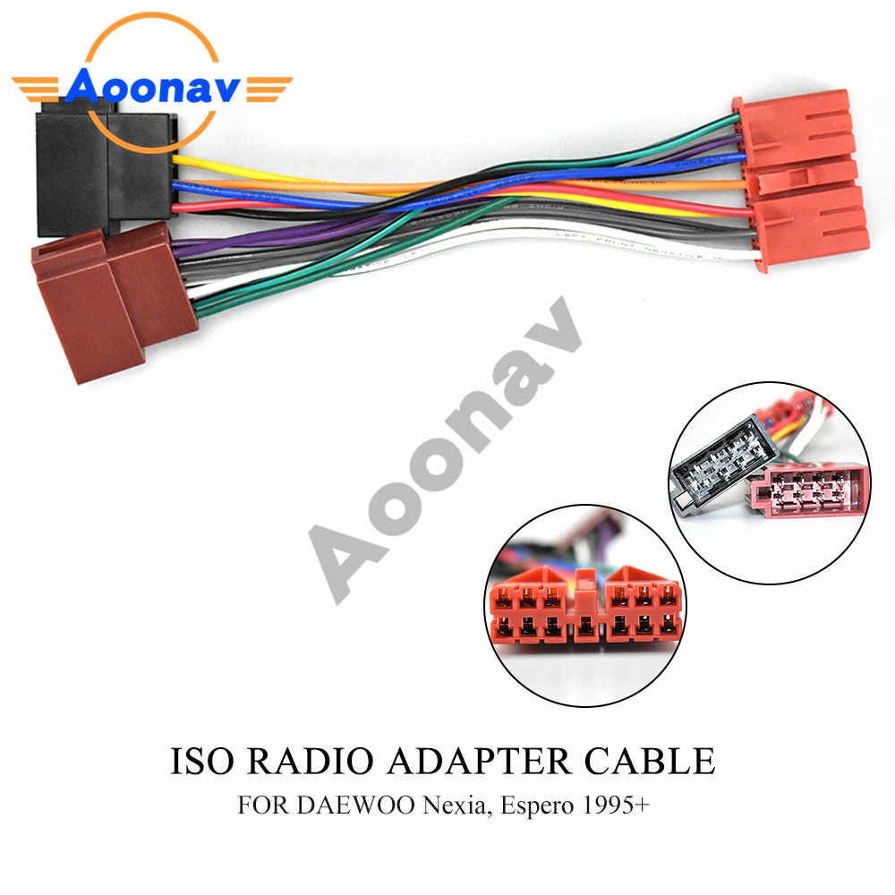 12 137 ISO for DAEWOO For Nexia For Espero 1995+ Radio Adapter Wiring  Harness Connector Lead Loom Cable Plug| | - AliExpresswww.aliexpress.com