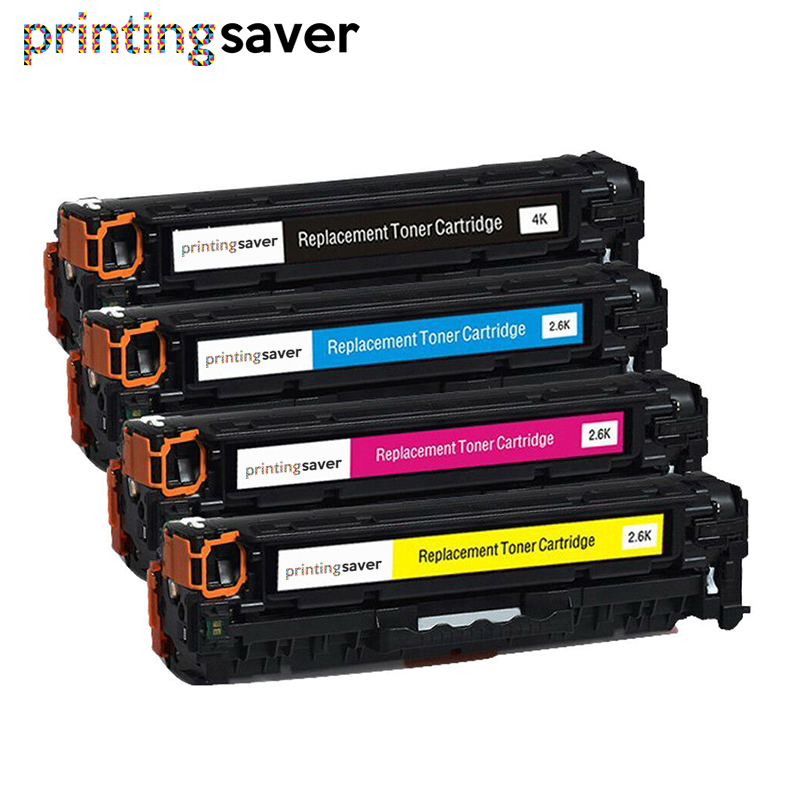 4x Compatible <font><b>305A</b></font> toner cartridge for <font><b>HP</b></font> CE410A CE411A CE412A CE413A LaserJet Pro 300 color MFP M375nw/M475dn/400/M451nw/M471dn image