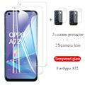 4-в-1 комплект защитных стекол на orro opo 72 защита для камеры стекло для oppo a72 5g oppo a72 6,5 ''телефон защитные пленки на экран стекло крышка