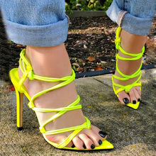 Womens Shoes Sandals Woman High Heel Sandals Summer Shoes Narrow Band Pumps Pointed Toe Classic Cross Tie Shoe Sexy Shoes Sandal fashion new arrive women 7cm high heels sandal elegant pointed toe narrow band summer sandals ladies office shoes xzl b0035