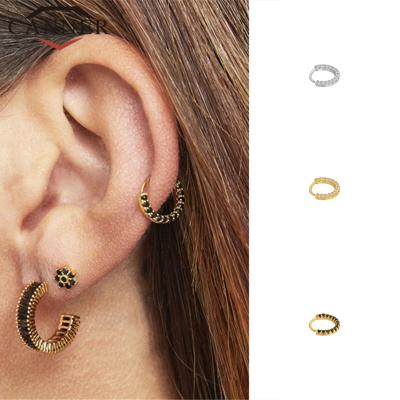 European And American 925 Sterling Silver Cartilage Earrings Nose Piercing Body Jewelry Cz Nose Hoop Nostril Nose Ring Hoop Earrings Aliexpress