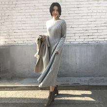 Женское трикотажное платье в стиле Хепберн черное повседневное