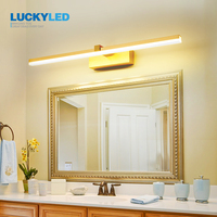 LUCKYLED-Luz Led impermeable para espejo de baño, lámpara de pared moderna para sala de estar, candelabro de 8w, 12w, AC85-265V