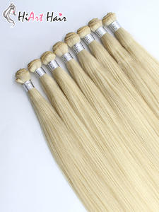 Hiart Weft Hair-Extension Hand-Tied Double-Drawn Wholesale Human Salon 15g/pc 3pc 100%Real