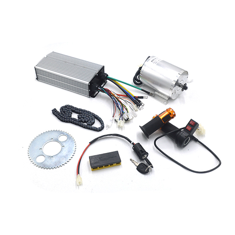 New 1Scooter Suit Electric Motor 72V <font><b>3000W</b></font>, Brushless Motor Controller , Reverse Twist Throttle, Power Ignition Lock <font><b>Scooter</b></font> Kit image