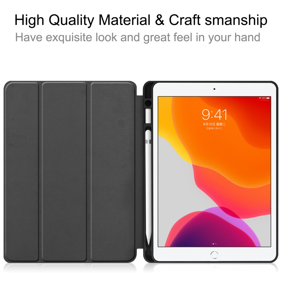 A2200/A2198/A2232 iPad for 7th Case Apple Cover Slim Film--Pen Pencil-Holder with Slim