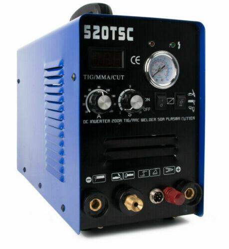 520TSCF Pilot Arc 50A Air Plasma Cutter /200A Tig/Stick Schweißer TIG SCHNITT MMA 3 IN 1 multifunktions Schweißen Maschine Mit Verbrauchs