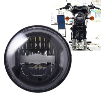 """5-3/4"""" 5.75 Inch Reflector LED Headlight White DRL Halo Ring For 883 XL1200 Iron Indian Scout Refit Motorcycle Accessories"""