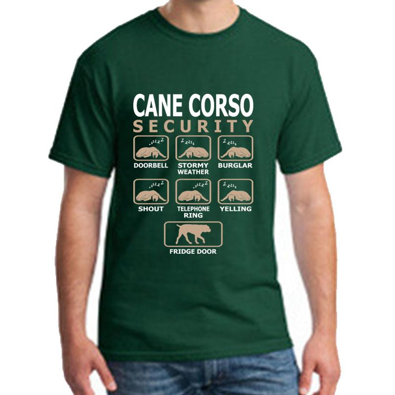>New Arrival Cane Corso Dog Security Pets Love t shirt s-5xl Comfortable Comical Knitted <font><b>mens</b></font> <font><b>tshirts</b></font> <font><b>Crew</b></font> Neck slogan