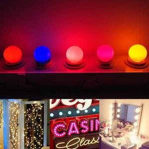 Image 5 - Led Bulb E27 led Lamp Bomlillas AC 220V 3W Colorful Globe Lampada 2835 SMD Led Light Flashlight 3W G45 Led Home lighting 20pcs