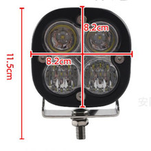 Round DC 12-24V 20W LED Spot Flood Work Light Bar Fog Driving Lamp Off-Road 2x(China)
