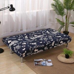 Image 2 - Funda de sofá de LICRA con estampado de corazón para sala de estar, Protector para muebles, seccionales, sin reposabrazos, color negro