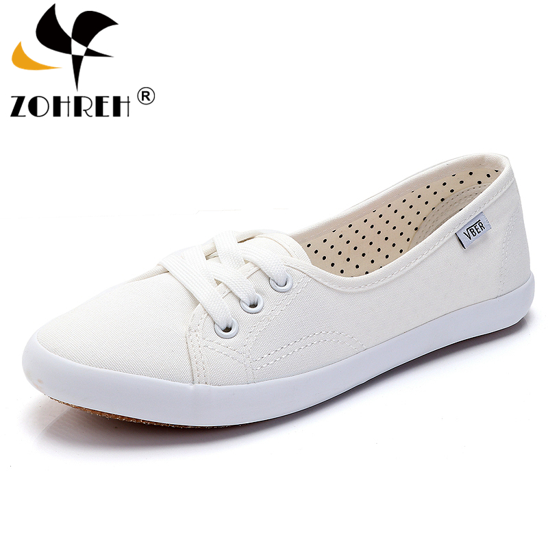 Women Lace Up Canvas Flat Autumn Loafers Female Breathable Solid Comfortable Lazy Shoes Ladies Fashion Sneakers Casual Footwear