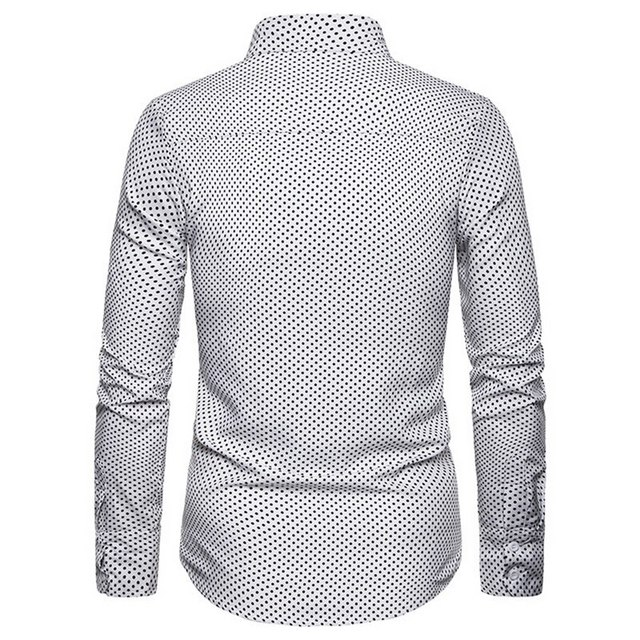 Shujin Men's Slim Fit Business Casual Long Sleeves Solid Button Shirts Men's Printed Casual Long Sleeve Regular Fit Dress Shirt