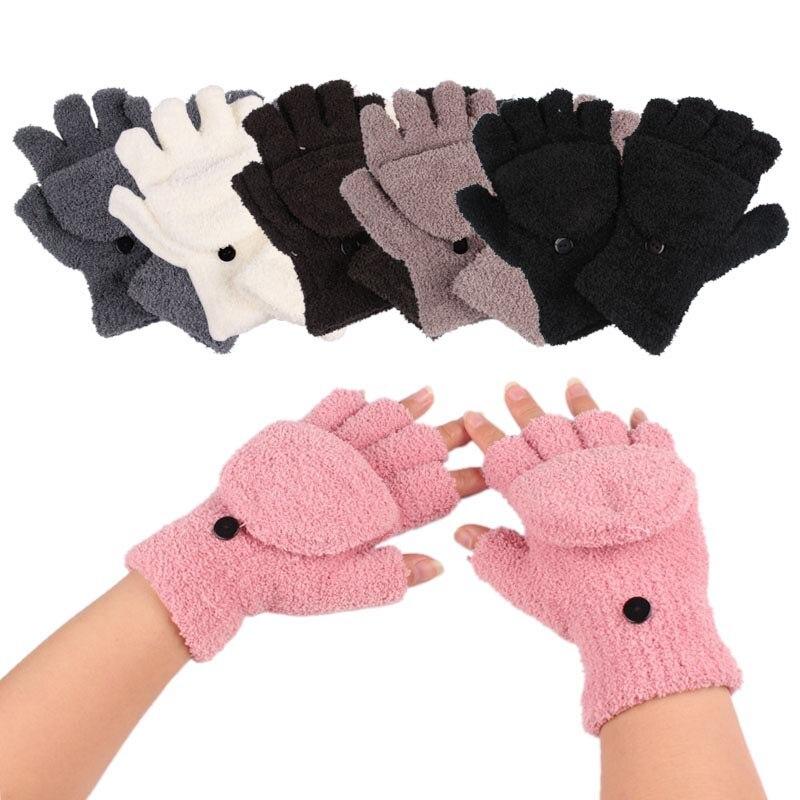 Women Girls Fashion Winter Xmas Warmer Gloves Lady Ladies Hand Wrist Warmer Winter Fingerless Gloves Hot 6 Colors