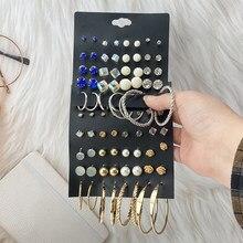 Ensemble de boucles d'oreilles Vintage pour femmes, style bohème, géométrique, EN cristal, bijoux à la mode, cadeaux, 2021