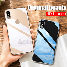 Phone Case For iPhone 6 6s Plus 7 8 Plus X 10 Case Ultra-thin Soft Transparent TPU Cover On iPhone X XS XR XS MAX Case Capa 2019 simple transparent art window case for iphone x xs max xr 6 6s plus tpu soft cover for iphone 7 8 plus x case back