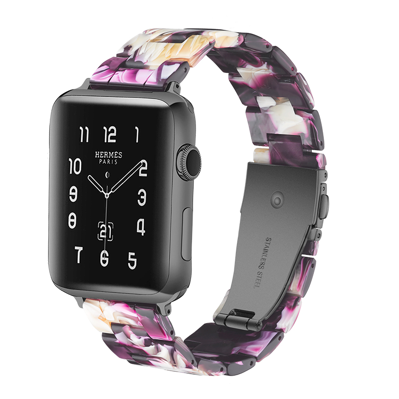Resin watch band strap For Apple watch Bracelet For iwatch Wrist Resin Belt Watch Accessories Watchband in Watchbands from Watches