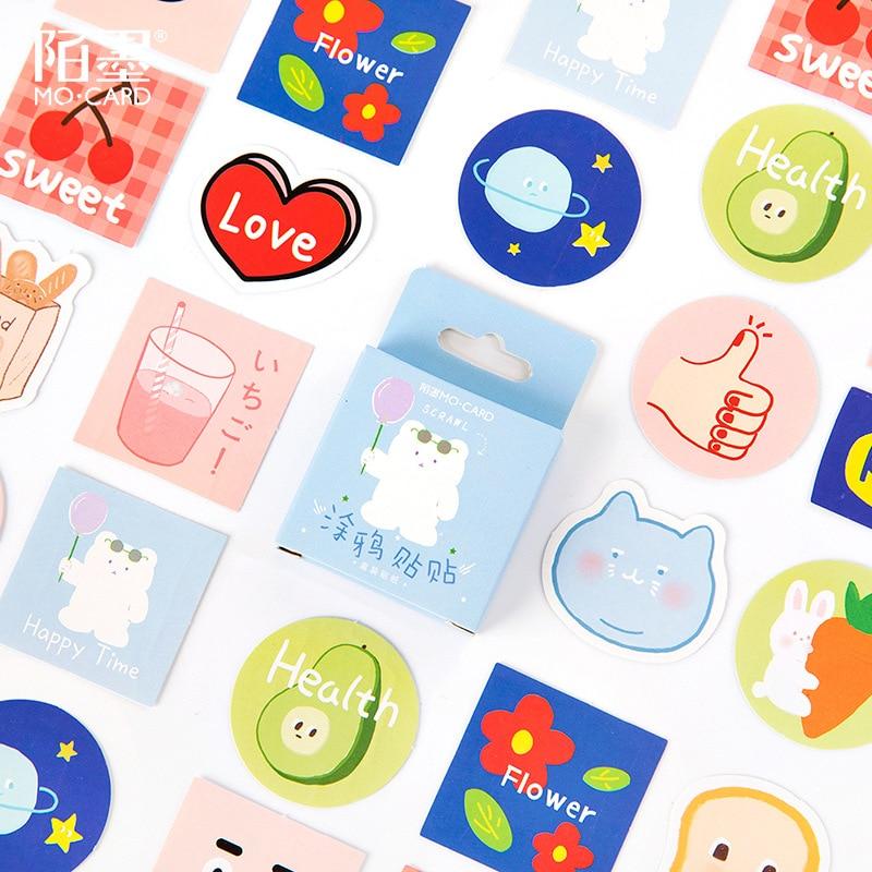45pcs/pack Kawaii Bread Milk Animals Scrapbooking Decorative Stationery Sticker Diy Craft Label