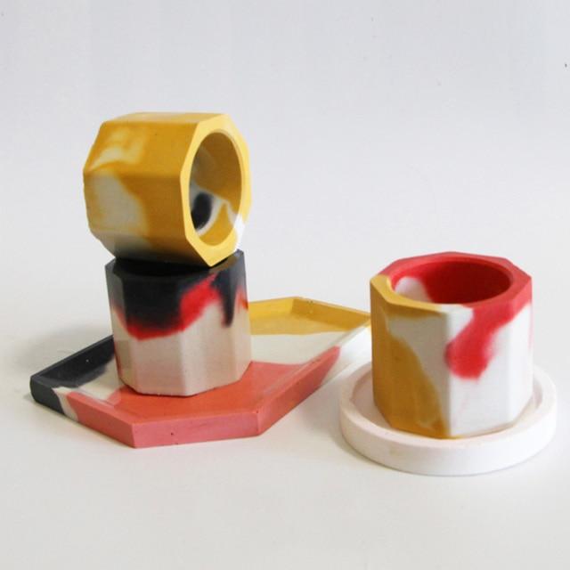 Trwała silikonowa doniczka Mold donica cementowa DIY soczyste Making Mold glina rzemiosło artystyczne Cement silikonowa betonowa butelka Mouldl