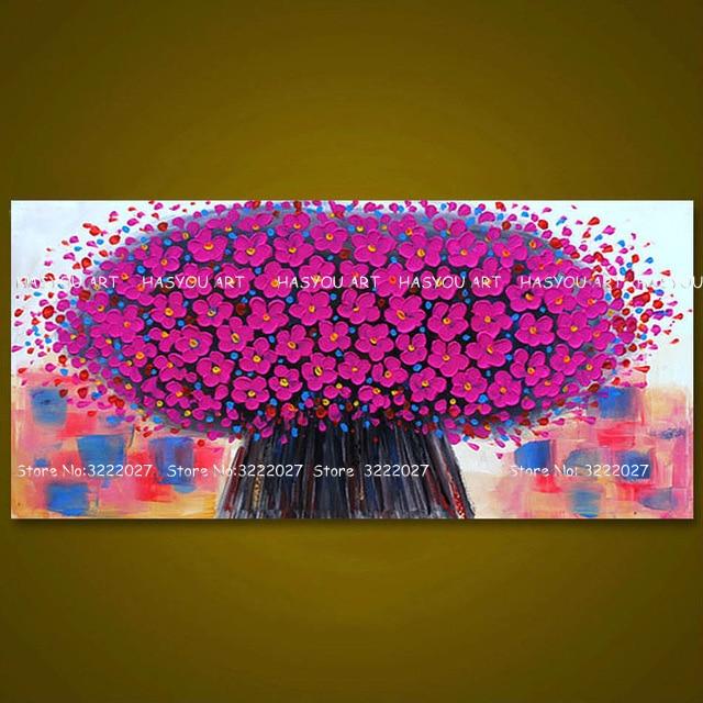 flor pintura retrato da arte da parede