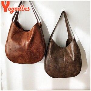 Image 4 - Yogodlns Vintage Vrouwen Handtas Ontwerpers Luxe Handtassen Vrouwen Schoudertassen Vrouwelijke Top Handvat Tassen Mode Merk Handtassen