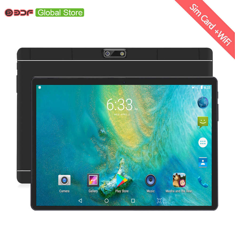 10.1 Inch Tablet PC Android 7.0 2.5D Steel Screen 3G Phone Call 4GB/64GB Octa Core 1.5GHz Dual SIM Support GPS OTG WiFi PC
