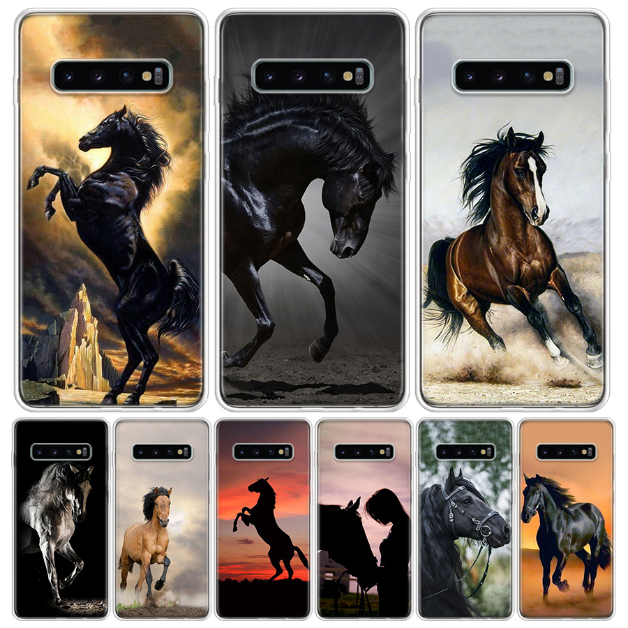 Hot Galloping Horse Phone Case For Samsung Galaxy S10 S20 Ultra Lite Note 10 9 8 S9 S8 J4 J6 J8 Plus + Pro S7 Coque Capa image
