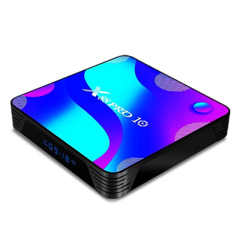 Горячая Android ТВ коробка X88 PRO10 Смарт ТВ BOX Android 10 RK3318, 4 Гб + 32G 4K Media Player X88 Pro 10 Android ТВ Декодер каналов кабельного телевидения