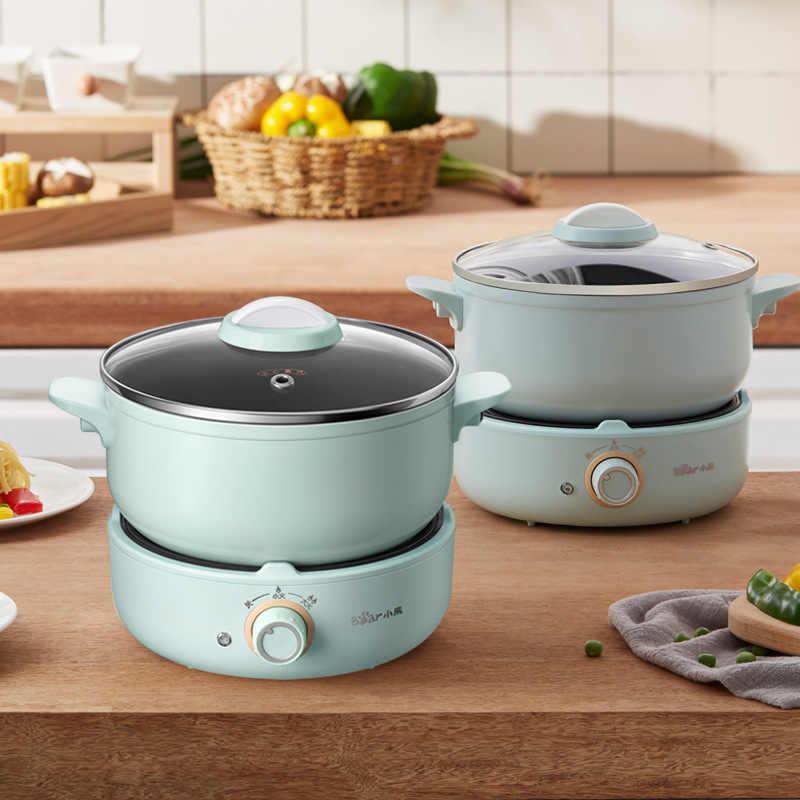 220V Listrik Hot Pot Multifungsi Rice Cooker Portable Split Jenis Pot Dapur Cooker Non-Stick Wajan untuk perjalanan Dapur