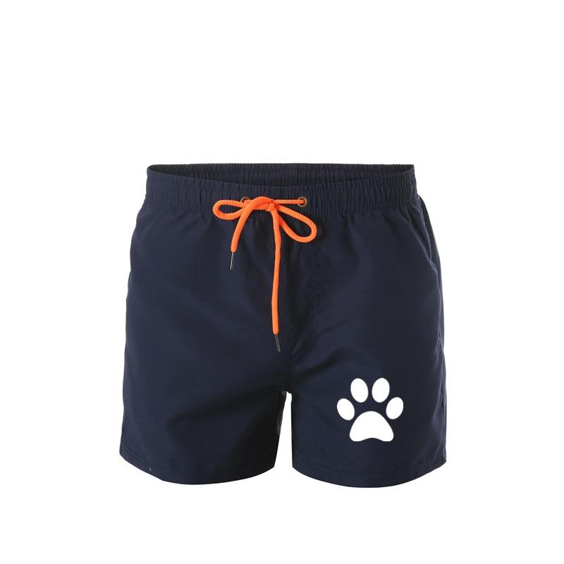 Men's Swimming Board Shorts Bathing Suits For Men Fashion Swim Sport Trunks Quick Dry Swimwear With Mesh Lining Pocket Bear Foot