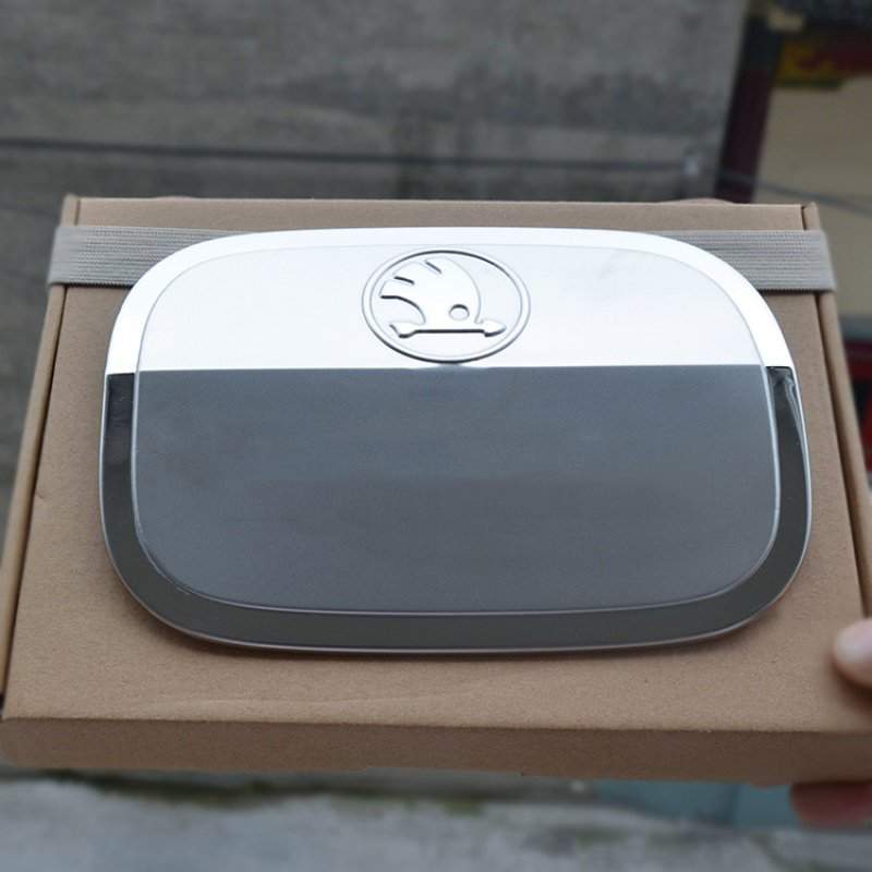 Lsrtw2017 For Skoda Octavia A7 Car Fuel Tank Cap Cover Trims Interior Accessories Chrome 2015 2016 2017 2018 2019 2020 Styling