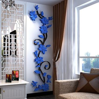 Fashion 3D DIY Removable Art Vinyl Wall Stickers Vase Flower Tree Decal Mural Home Decor For Home Bedroom Decoration Y13 1