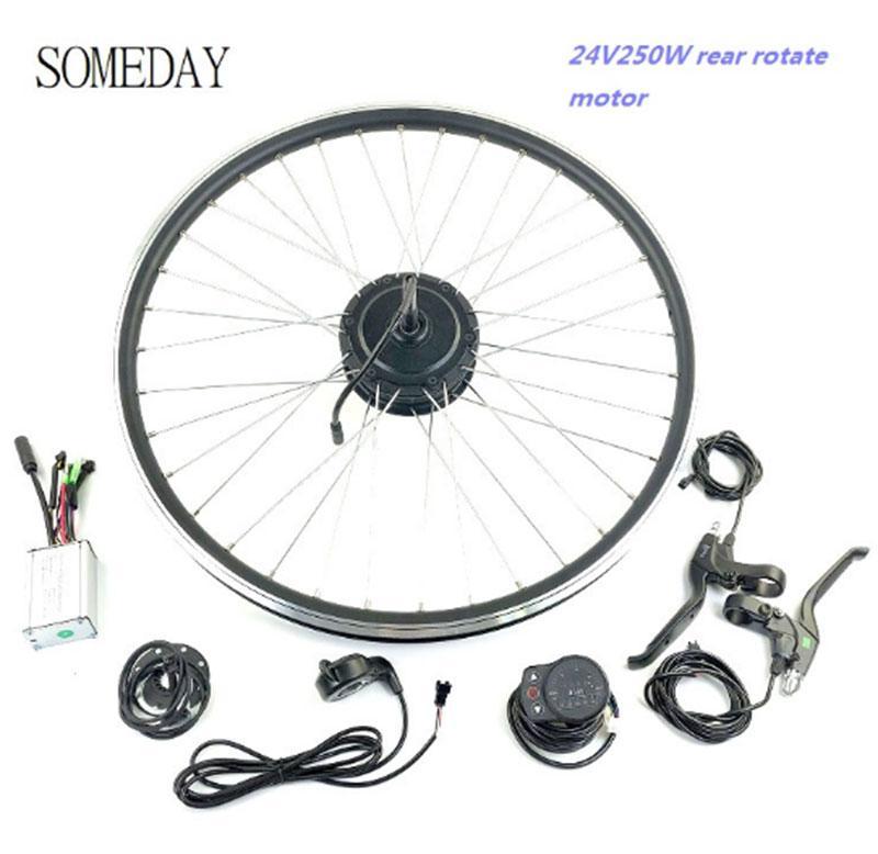 Roda do Motor Roda com Display Kit de Conversão Algum Bicicleta Elétrica Traseira Girar Cubo 16-28 – 29 Polegada 700c Ktled900s Dia 24v250w