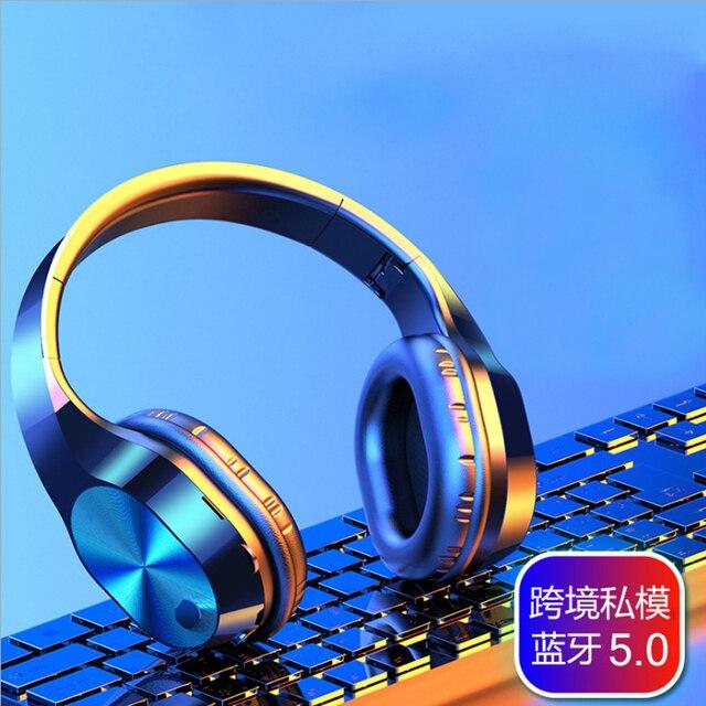 3.5mm Jack HIFI stereo kablosuz kulaklık bluetooth kulaklık müzik kulaklık desteği SD TF kart mic için xiaomi smartphone tabletler