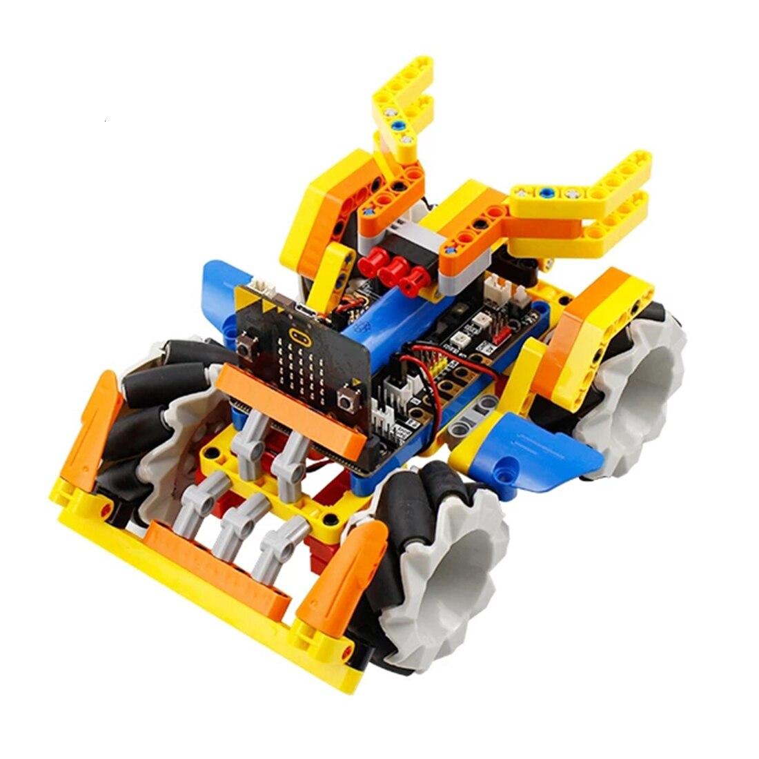 construcao kit mecanum roda robo carro com 05